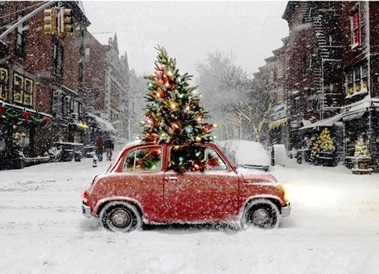 decorated christmas tree - Christmas Decorations For Your Car
