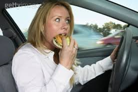 eating while driving