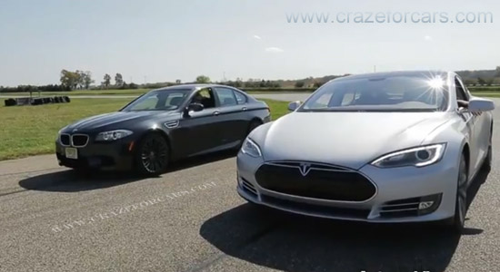 BMW M5 and Tesla S