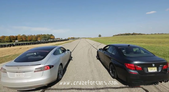 BMW M5 vs Tesla S