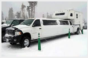 Dodge Extended-Cab Limousine With Camper