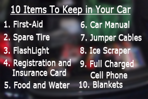 10 Items to Keep in Your car